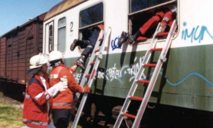 Zugunglück im Güterbahnhof