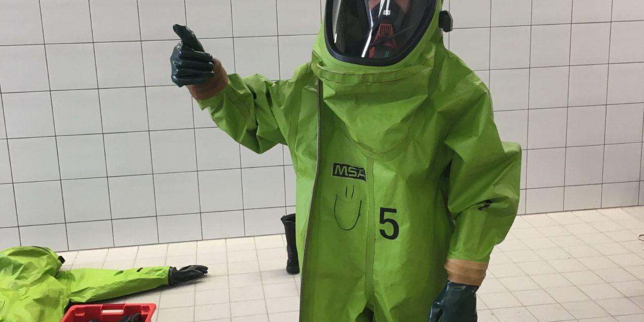 Ausbildung Chemikalienschutzanzug