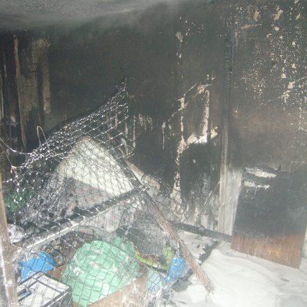 Ausgebranntes Dachgeschoss