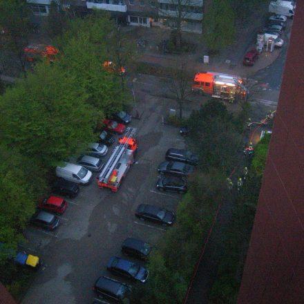 Fahrzeuge an der Einsatzstelle
