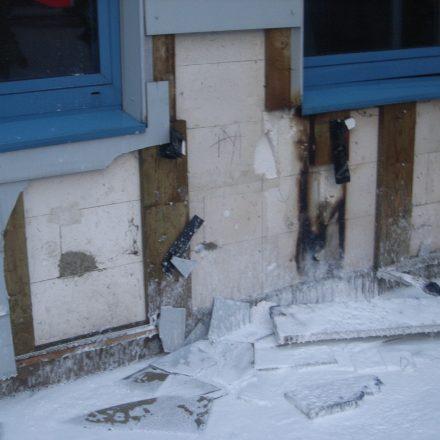 Brandschaden an der Fassade