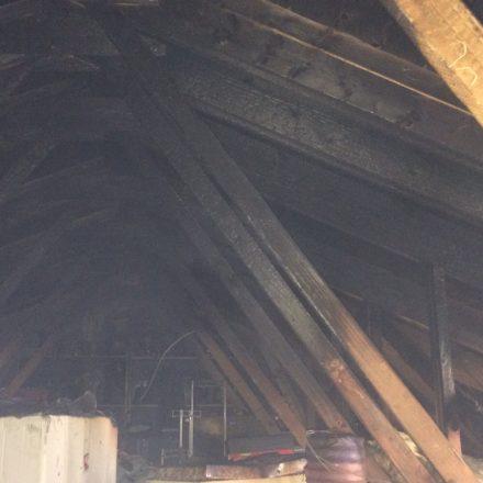 Brandschaden im Dachstuhl