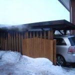 Das bereits angebrannte Carport des Nachbarn konnte gerettet werden