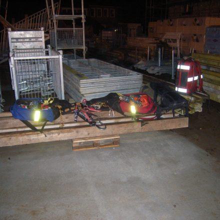 Ausrüstungsteile der Höhenrettungsgruppe
