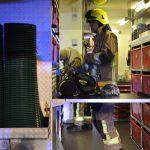 Dienstleistung für die Atemschutzgeräteträger, nach dem Einsatz machen Kameraden ihre Geräte wieder fertig. Bild: KFV Pinneberg