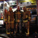 Drei unserer zufriedenen Atemschutzgeräteträger/in nach ihrem Einsatz. Bild: KFV Pinneberg