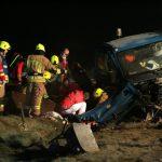 Versorgung des verletzten Fahrers