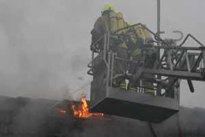 Brandbekämpfung mit C-Strahlrohr