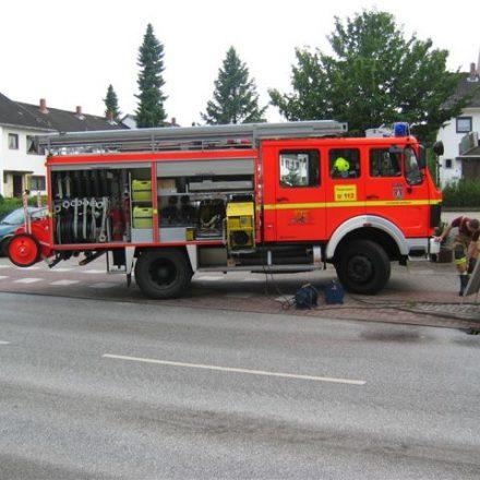 Nur eines der insgesamt elf Fahrzeuge, die im Stadtgebiet unterwegs waren um den Bürgern zu helfen