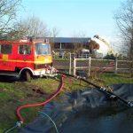 Der zum Stall gehörende Löschwasserteich wurde von unserem LF8 genutzt