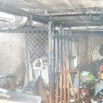 Einer der ausgebrannten Kellerräume, deren Inhalt nur noch Schrottwert besitzt