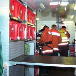Im Abrollbehälter Atemschutz konnten die eingesetzten 12 Geräteträger ihr Gerät sofort wieder einsatzbereit machen