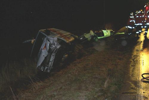 Durch die Lage der beiden Fahrzeuge war zuerst nicht ganz klar, ob nicht beide Kfz in den Unfall verwickelt waren