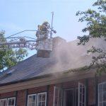 Rauchentwicklung aus dem 1. OG sowie aus dem Dach