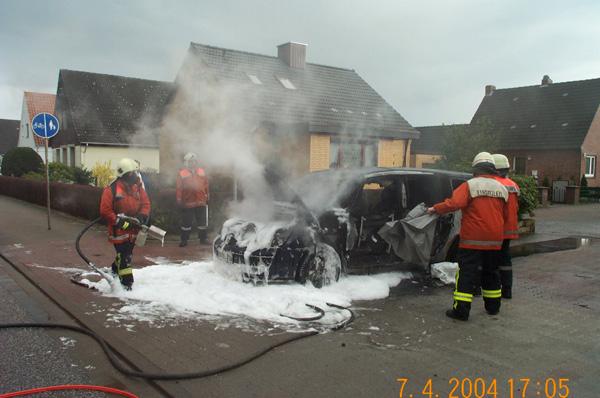 Der Wagen hatte nach dem Feuer nur noch Schrottwert