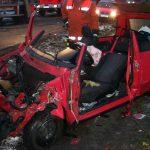 Der kleine Fiat hat nach der Rettung nur noch Schrottwert!
