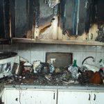 Die Kücheneinrichtung wurde durch das Feuer komplett zerstört