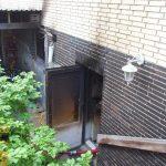 Durch die Kellertür wurde ein Löschangriff eingeleitet
