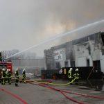 Brandbekämpfung über Wasserwerfer