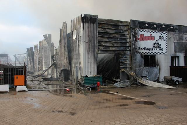 Im Bereich dieser Kartbahn brach das Feuer aus