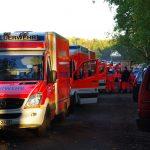 Eine Armada an Rettungsmitteln steht für den Einsatz bereit