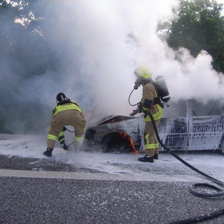 Brandbekämpfung mit der Schnellangriffseinrichtung