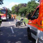 Das Unfallmotorrad