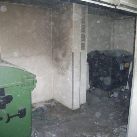 Im Kellerraum konnte das Feuer auf den Papiersammelcontainer begrenzt werden.