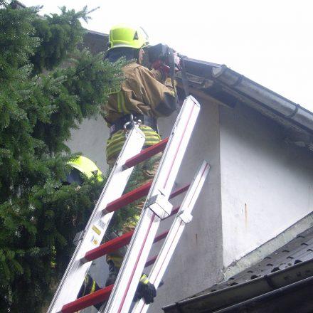 Kontrolle des Daches mit einer Wärmebildkamera