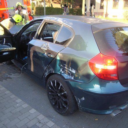 Beim Aufprall lösten beide Airbags aus und verhinderten Schlimmeres.