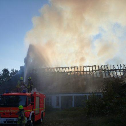 Das Feuer hatte den hinteren Bereich zuerst zerstört.