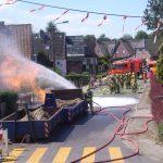 Die über der Brandstelle verlaufende Stromleitung wurde beschädigt