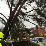 ... und beschädigte ein auf dem Parkdeck abgestelltes Fahrzeug