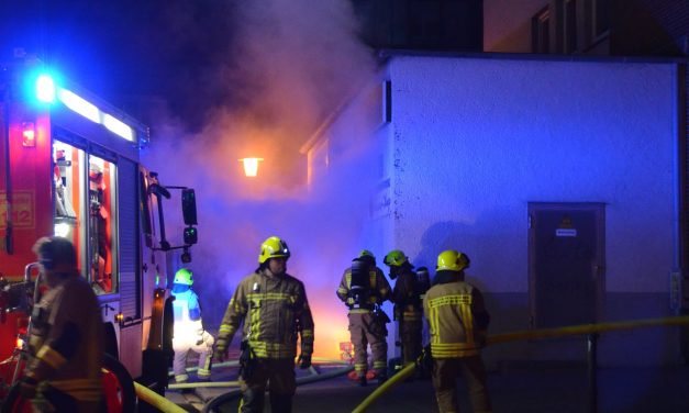 Kellerbrand im Hochhaus