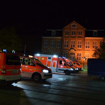 Bereitstellungsraum des Rettungsdienstes