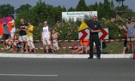 Streckenabsicherung bei den Vattenfall Cyclassics 2006