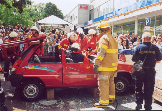 Besuch des Rockville Volunteer Fire Departments aus unserer Partnerstadt Rockville, Maryland, USA
