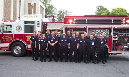 Besuch bei der Feuerwehr unserer Partnerstadt Rockville, Maryland, USA