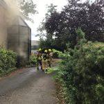 Raucheintwicklung aus dem Gebäude - Einweisung eines Angriffstrupps