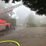 Teilweise drückte der Rauch nach unten - arbeiten und erschwerten Bedingungen
