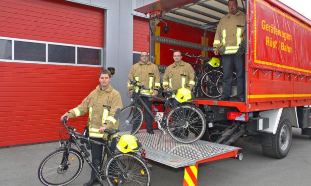 Fahrradstaffel der Feuerwehr der Stadt Pinneberg geht in Dienst