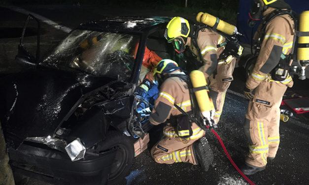 Gemeinsame Übung mit der Feuerwehr Halstenbek