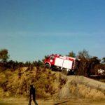 Im Standgas zog der Unimog den Hügel hinauf
