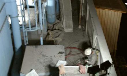 Wieder ein Großeinsatz: Feuer in einem Staubfilter eines Kunststoffverarbeitenden Betriebes