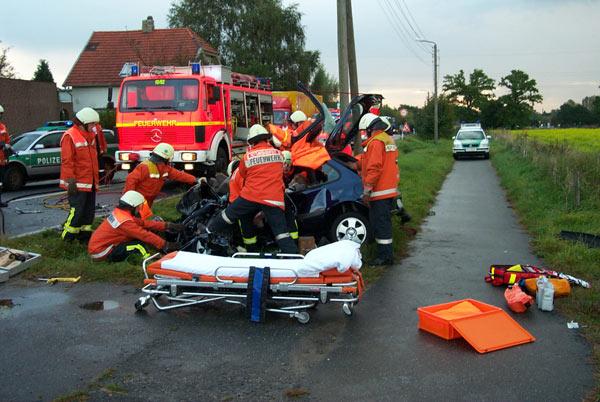 Verkehrsunfall auf der L106
