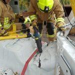 Wo keine Angreifpunkte für die hydraulischen Rettungsgeräte gegeben ist, kann die Säbelsäge weiterhelfen.