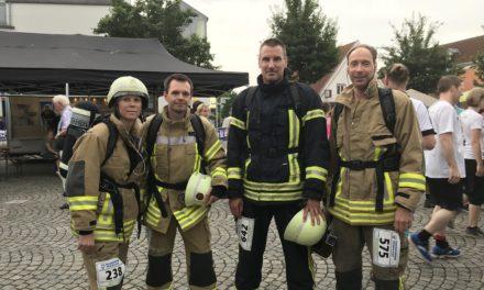 5 km in Schutzkleidung gelaufen – Respekt