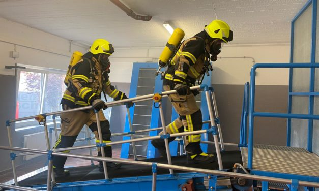 Feuerwehrleute weiterhin belastbar!