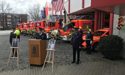 Trauerfeier für Fire Chief Alan Hinde