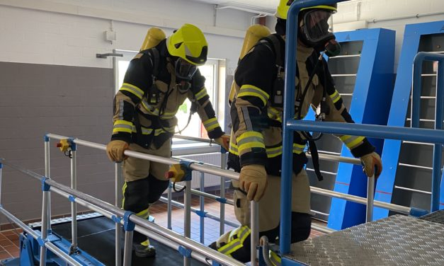 Belastungsübung für Atemschutzgeräteträger